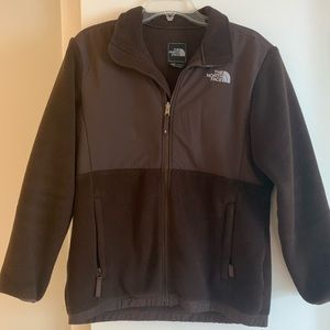 EUC The North Face brown full zip jacket